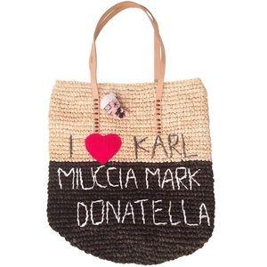 House of Mua Mua I ❤️ Karl, Miuccia... Rafia Tote